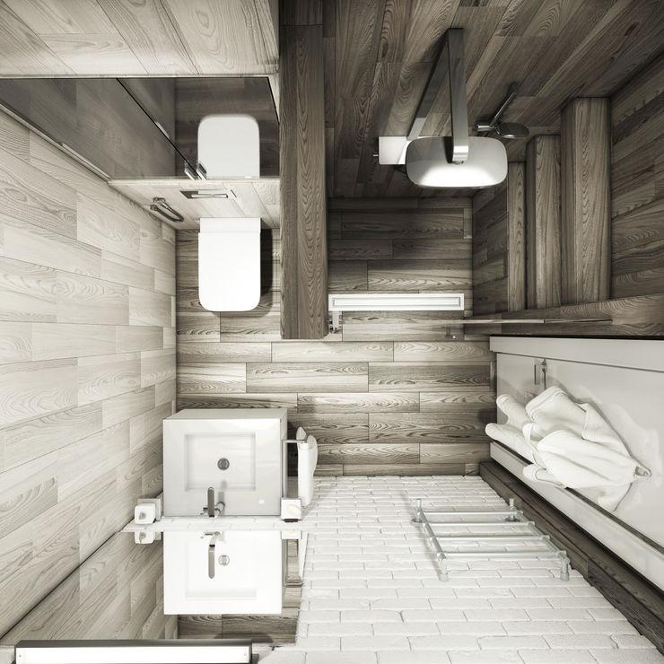 душевая&прихожая Eclectic DesignStudio Ванная комната в стиле минимализм
