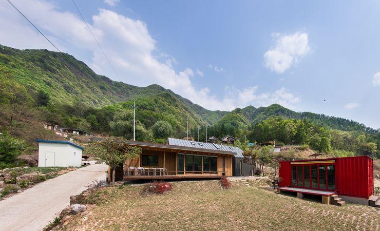 Seo-Kyeong-Dab-Ka (西景答家) KAWA Design Group Modern houses