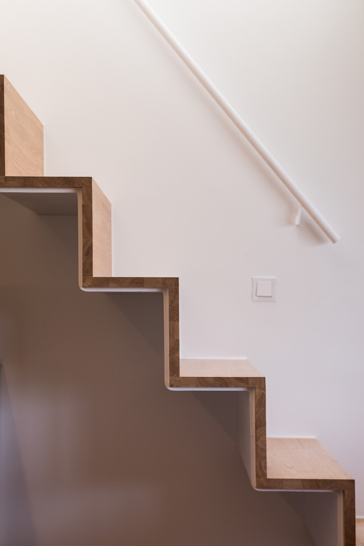 Seo-Kyeong-Dab-Ka (西景答家) KAWA Design Group Modern corridor, hallway & stairs