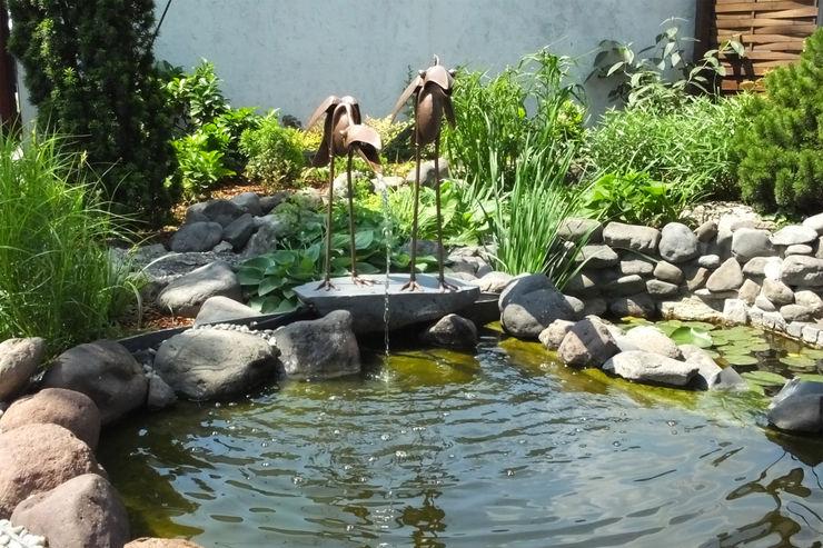 Wasserspeiende Kupfervögel Kupferreich Kft. Schwimmteich