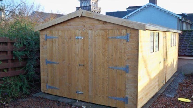 Basic 10ft Wide Garage shedking クラシックデザインの ガレージ・物置