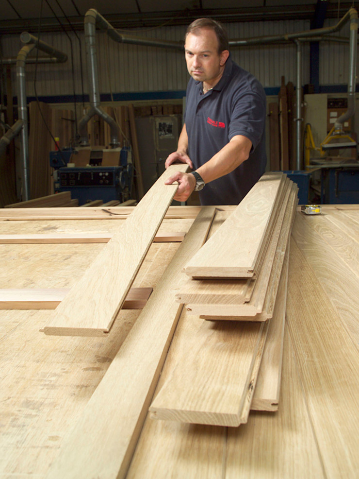 Garage Door being built out of timber The Garage Door Centre Limited Гаражі та навіси