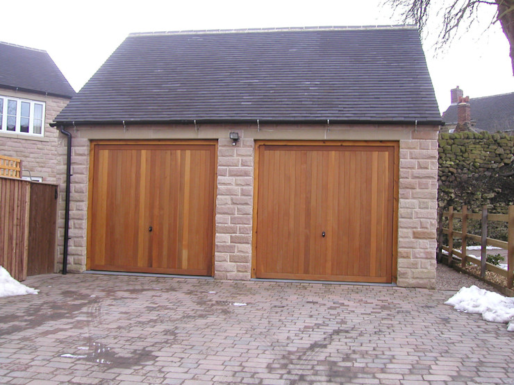 Garage Door made from Timber The Garage Door Centre Limited Гаражі та навіси