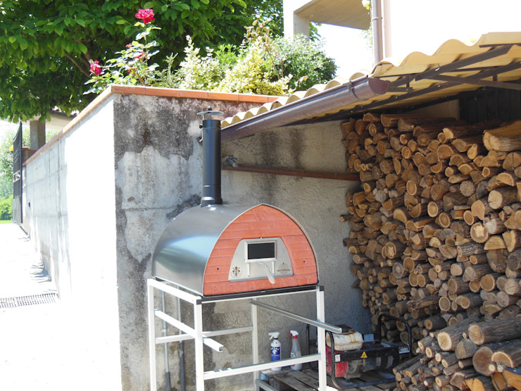 Outdoor Wood fired pizza oven Pizzone Genotema SRL Unipersonale СадВогонь ями і барбекю