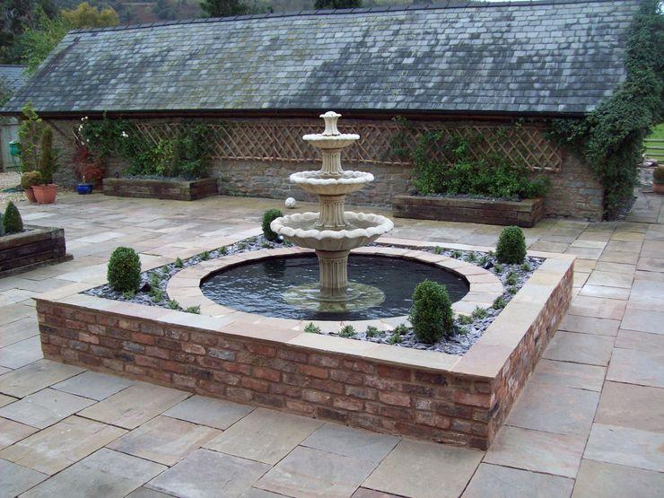 Stone Water Fountain Unique Landscapes Jardin classique
