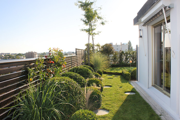 Un Jardin suspendu FIORELLINO paysagiste Balcon, Veranda & Terrasse originaux