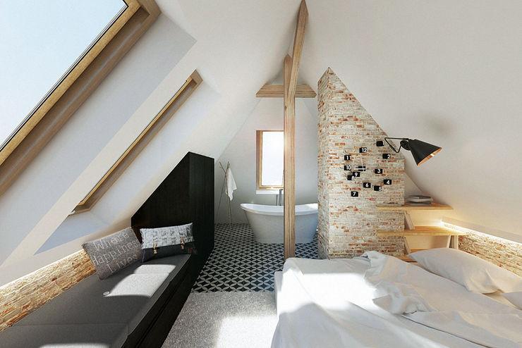 razoo-architekci 스칸디나비아 침실