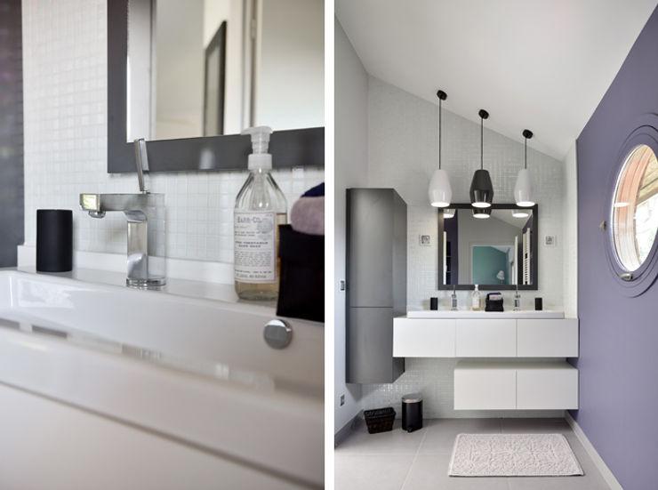 Aménagement et décoration d'une maison à Genève Marion Lanoë Salle de bain moderne