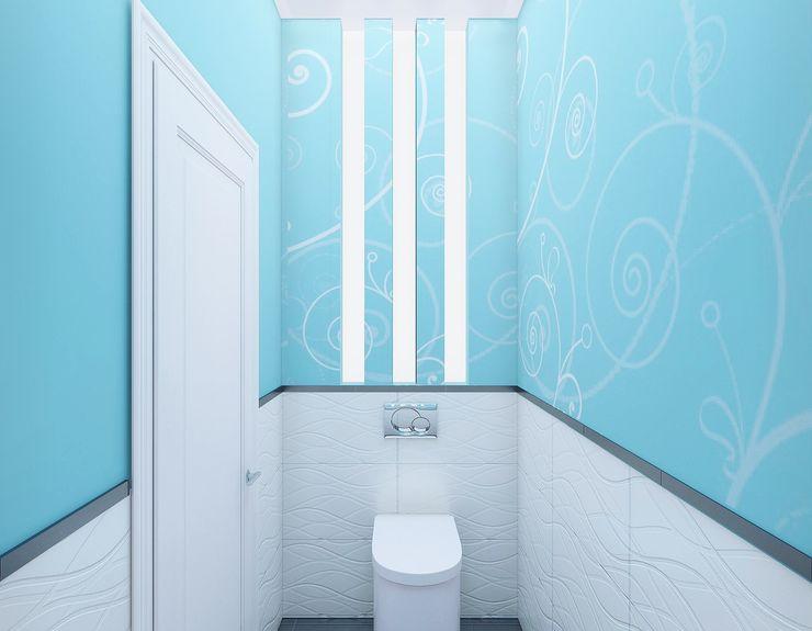 Ольга Рыбалка Eclectic style bathroom