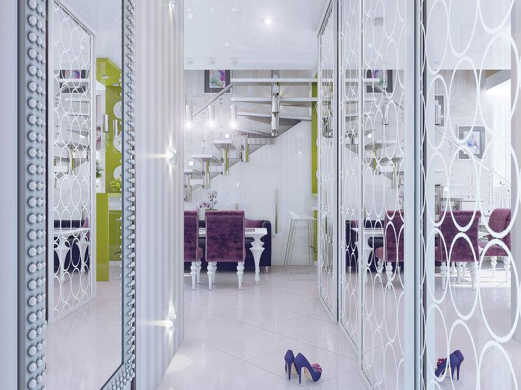 Ольга Рыбалка Eclectic style corridor, hallway & stairs