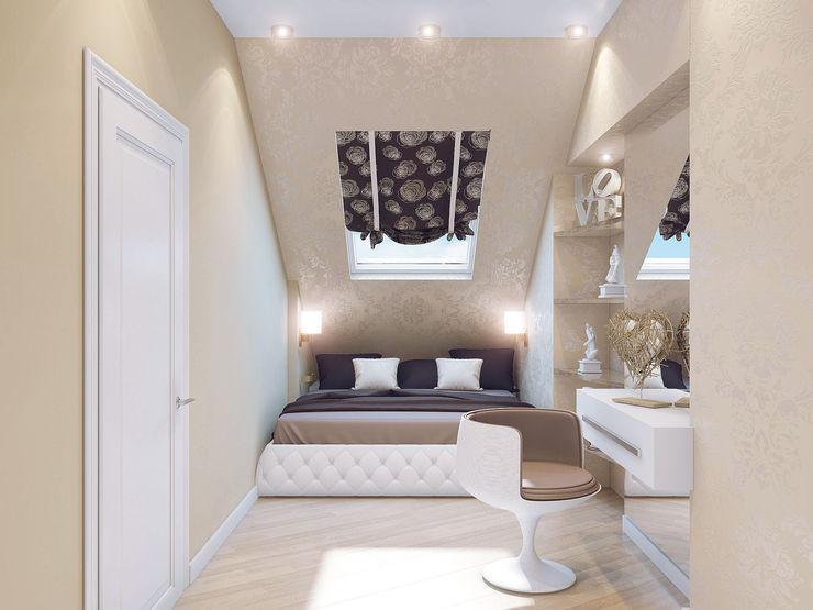 Ольга Рыбалка Eclectic style bedroom