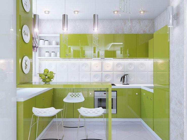 Ольга Рыбалка Eclectic style kitchen