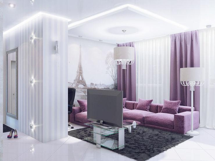 Ольга Рыбалка Eclectic style living room