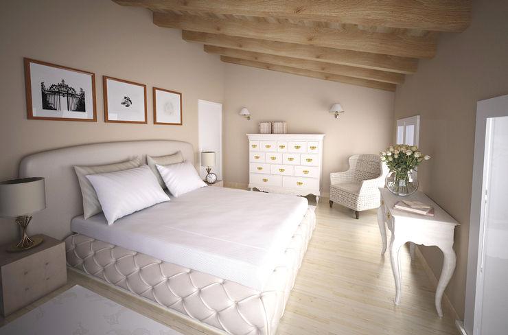Laura Sardano Rustic style bedroom