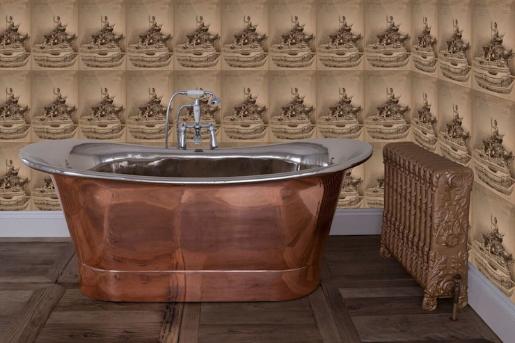 Normandy Double Slipper Copper & Nickel Bath UKAA   UK Architectural Antiques BathroomBathtubs & showers