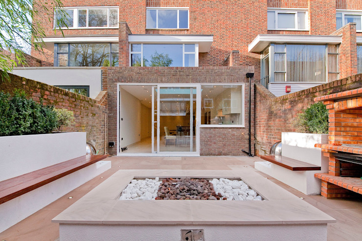 Private House - Holland Park New Images Architects Modern balcony, veranda & terrace