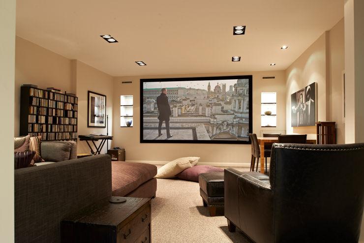 St Peter's Road, London Nigel Bird Architects Salas multimedia modernas