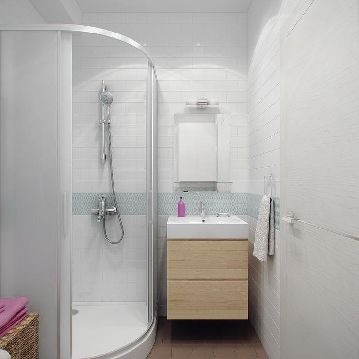 Ekaterina Donde Design Baños de estilo escandinavo