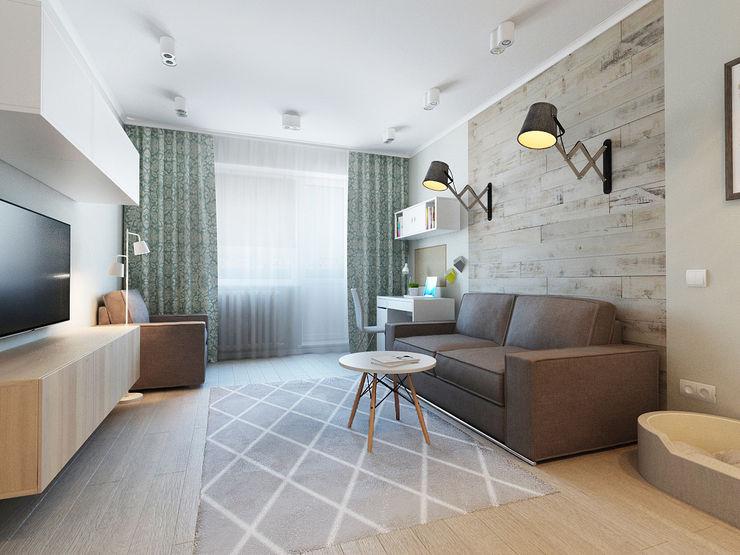 Ekaterina Donde Design Salas de estilo escandinavo