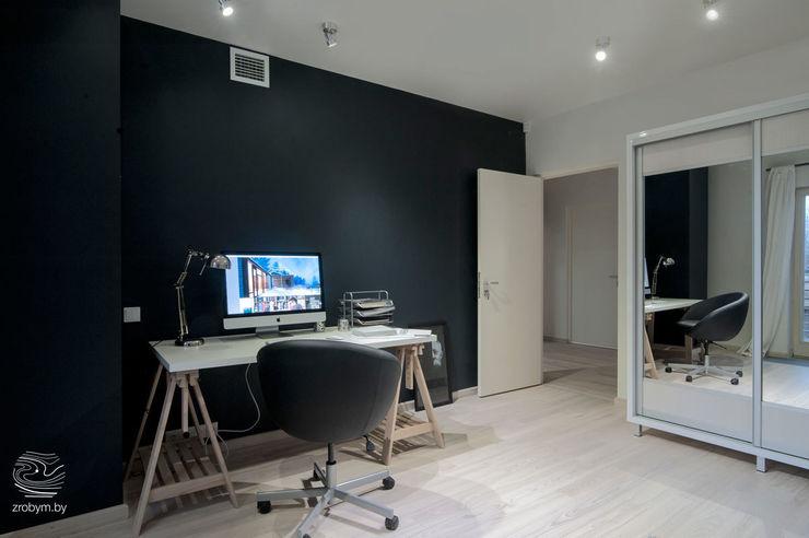 ZROBYM architects Minimalistische Arbeitszimmer