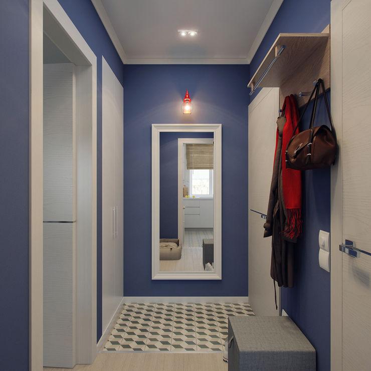 Ekaterina Donde Design Corredores, halls e escadas escandinavos