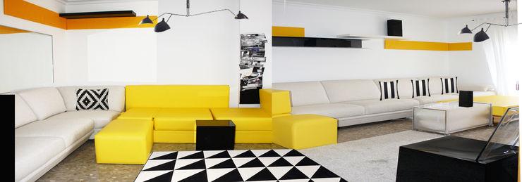 LOWDECOR SalasSalas y sillones Cuero sintético Amarillo