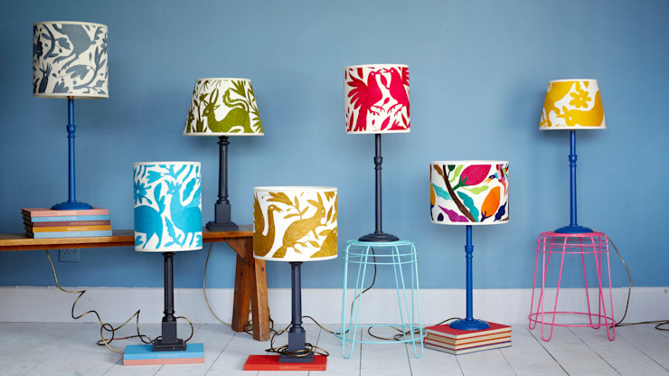 Colourful Mexican lampshades by Montes & Clark Montes & Clark WohnzimmerBeleuchtung