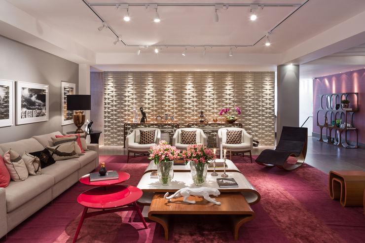 Arina Araujo Arquitetura e Interiores Modern Living Room Pink