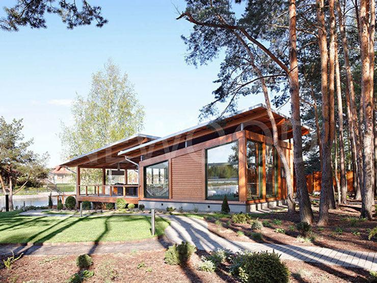 NEWOOD - Современные деревянные дома Rumah Gaya Skandinavia