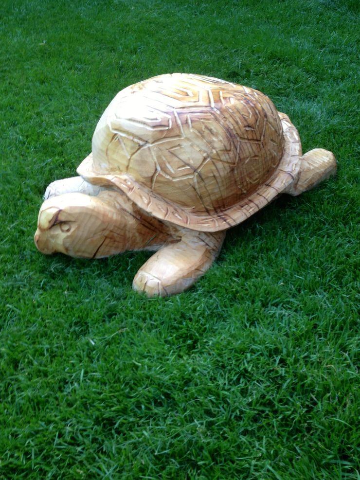 Schildkröte Holzwerkerin Eving GartenAccessoires und Dekoration