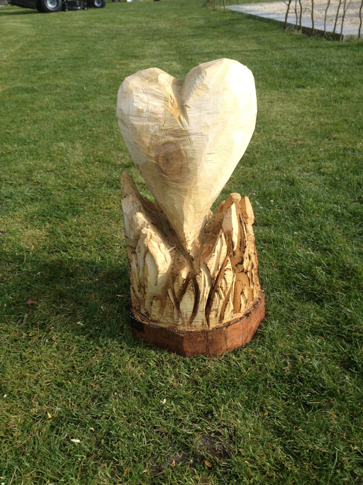 Herz in Flammen Holzwerkerin Eving GartenAccessoires und Dekoration