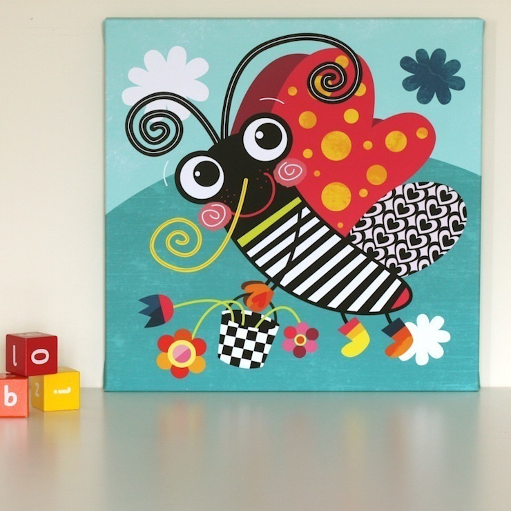 Butterfly Nursery Canvas by Witty Doodle Witty Doodle ArtworkPictures & paintings