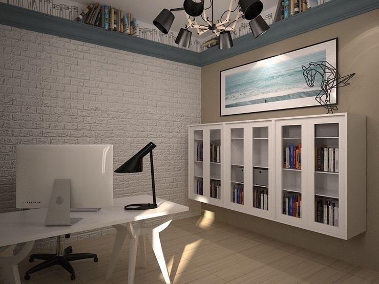 Дом солнца RED LIGHTs Рабочий кабинет в эклектичном стиле