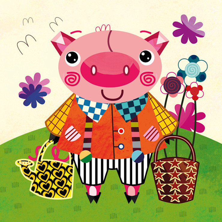 Little Pig Nursery Canvas by Witty Doodle Witty Doodle ArtworkPictures & paintings
