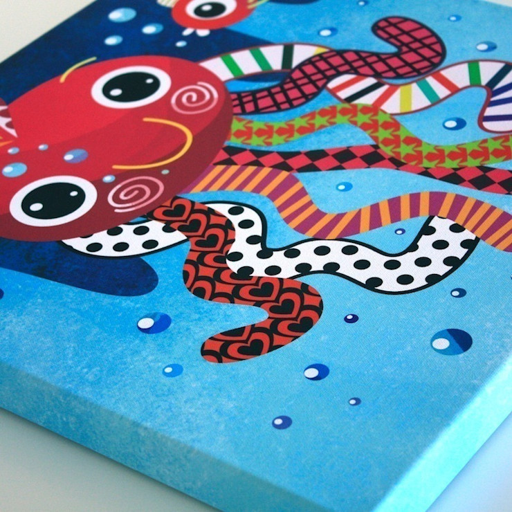 Octopus Nursery Canvas by Witty Doodle Witty Doodle ArtworkPictures & paintings