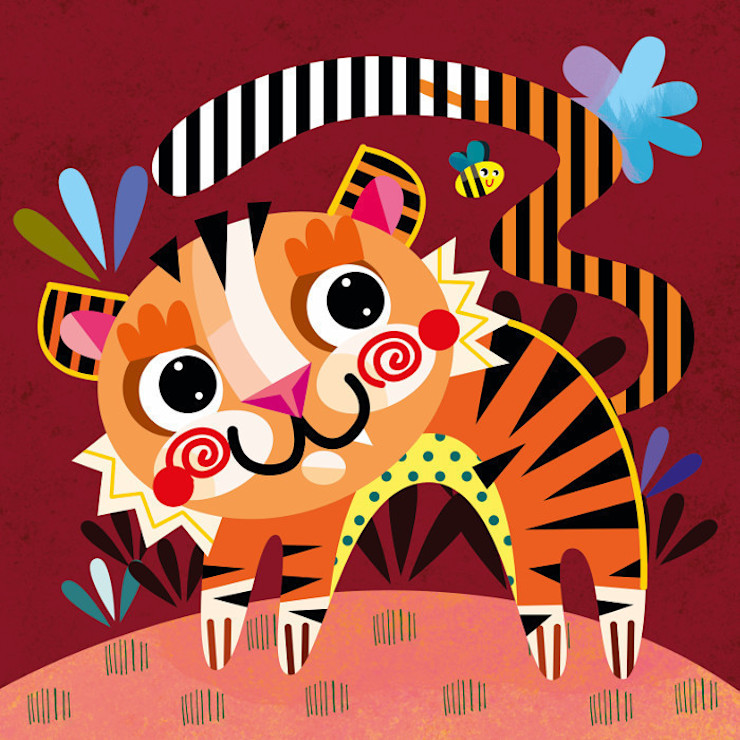Tiger Nursery Canvas by Witty Doodle Witty Doodle ArtworkPictures & paintings