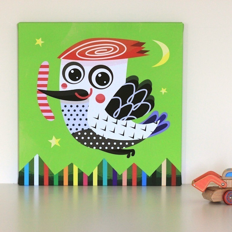 Woodpecker Nursery Canvas by Witty Doodle Witty Doodle ArtworkPictures & paintings