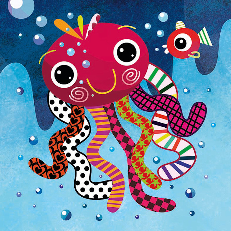 Octopus Nursery Print by Witty Doodle Witty Doodle ArtworkPictures & paintings