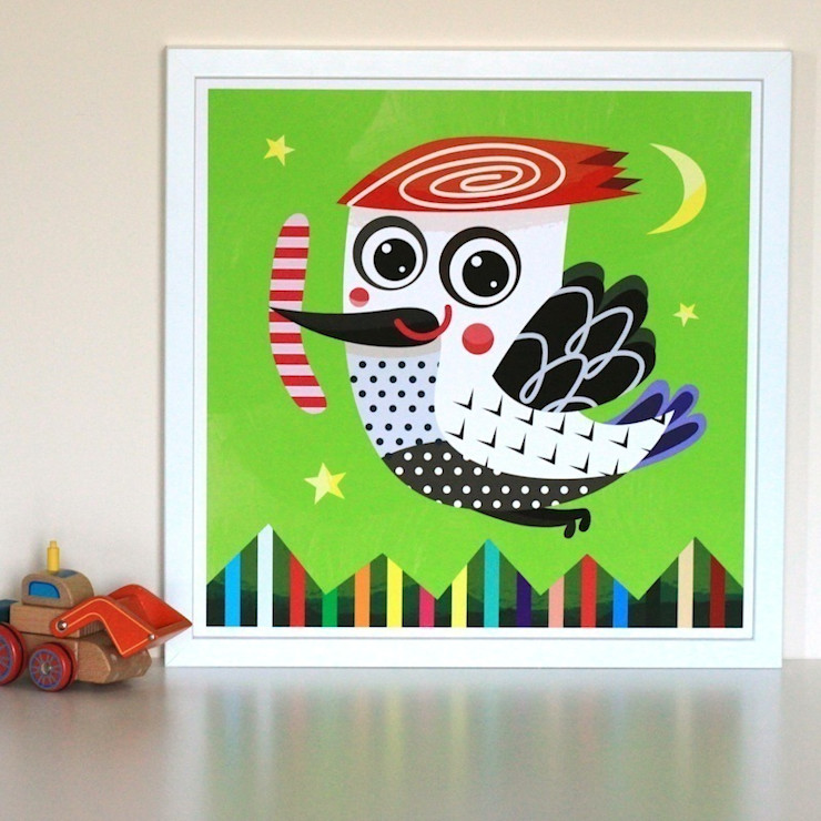 Woodpecker Nursery Print by Witty Doodle Witty Doodle ArtworkPictures & paintings