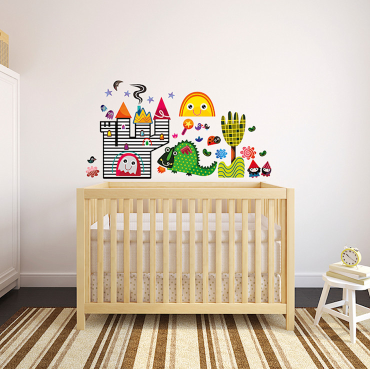Fairy Tale Nursery Wall Stickers by Witty Doodle Witty Doodle ArtworkPictures & paintings