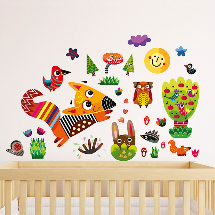 Forest Nursery Wall Stickers by Witty Doodle Witty Doodle ArtworkPictures & paintings