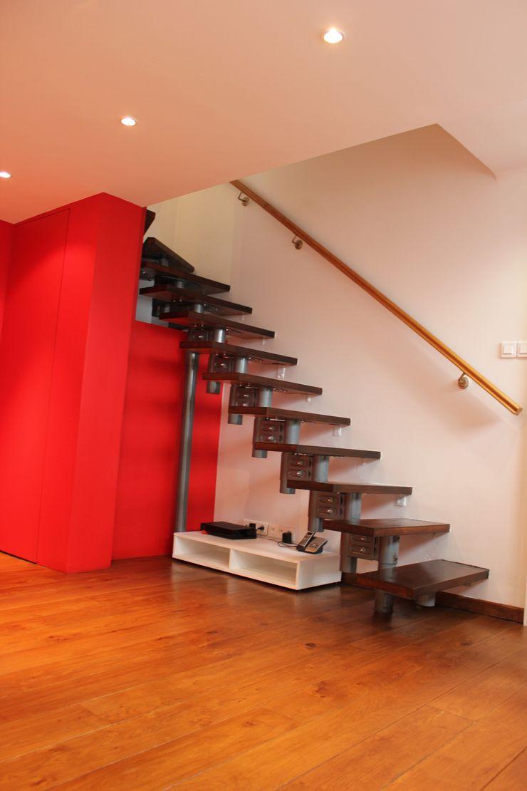 monicacordova Modern corridor, hallway & stairs
