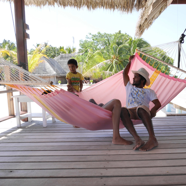 Coral Caribe Single Spreader Bar Hammock Emilyhannah Ltd Garden Furniture