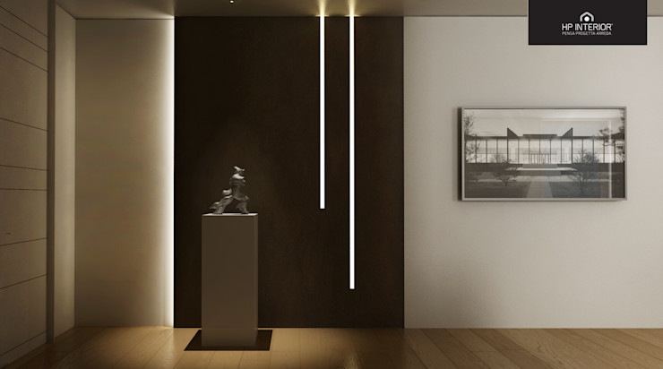 HP Interior srl Corredores, halls e escadas modernos