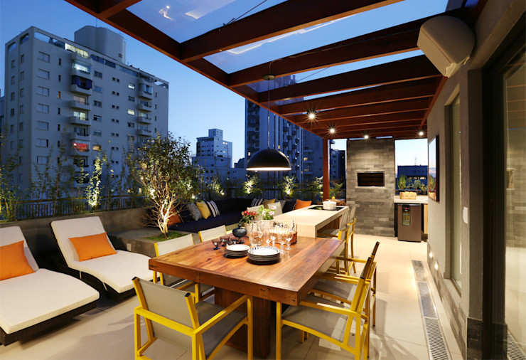 MANDRIL ARQUITETURA E INTERIORES Modern Terrace