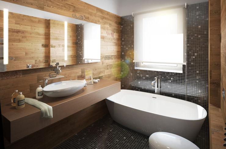 Beniamino Faliti Architetto Eclectic style bathroom