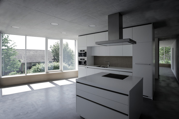 mpp architekten ag 現代廚房設計點子、靈感&圖片
