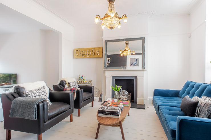 Full House Renovation with Crittall Extension, London HollandGreen Salas de estilo ecléctico