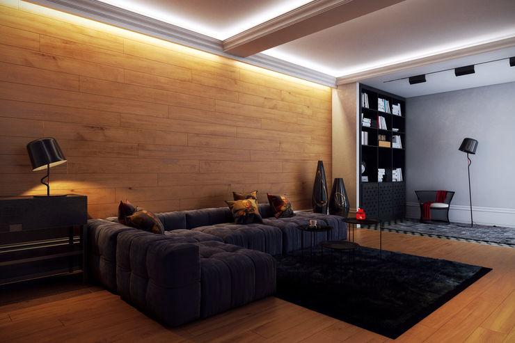 Перспектива Дизайн Salas de estilo ecléctico