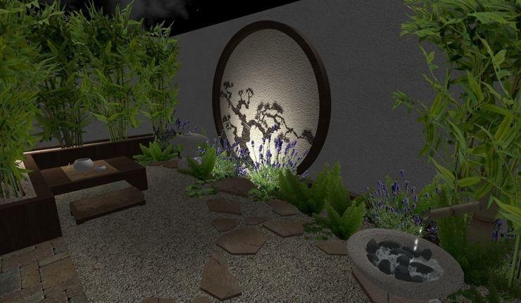 jardin oriental - vista de noche1 Zen Ambient Jardines asiáticos